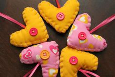 Valentine Clumsy Hearts set of 5 by AlwaysAClumsyHeart on Etsy, $15.00