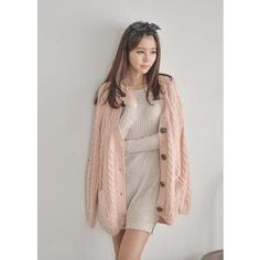 Buy 'Bongjashop – V-Neck Cable-Knit Cardigan' with Free International Shipping at YesStyle.com. Browse and shop for thousands of Asian fashion items from South Korea and more!