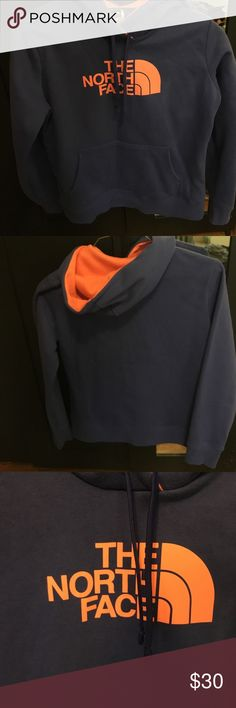 ⚡️⚡️North face hooded sweatshirt⚡️⚡️ North face hooded sweatshirt perfect condition worn once. Size medium I personally feel like it fits more like a small/medium. The first picture shows the best color of the sweatshirt. North Face Jackets & Coats