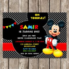 Baby Mickey Mouse Baby Shower Invitations with perfect invitations layout