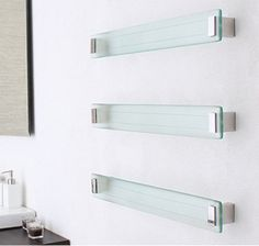 DC Short Lava Clear Heated Towel Rail