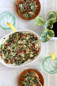 Quinoa, Brown Rice, and Sun-Dried Tomato Salad