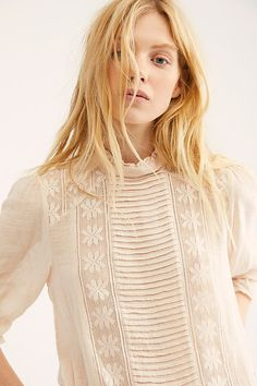Adore You Top by Free People Top Stylist, High Neck Blouse, Free People Store, Cute Blouses, Beautiful Crochet, Lace Tops, Crochet Lace, Adore You, Designer Dresses