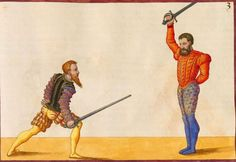 low guard VS high guard. Source:  Paulus Hecktor Mair