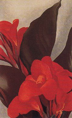 Cannas 1919 Painting By Georgia O'Keeffe - Reproduction Gallery Georgia O'keeffe, Alfred Stieglitz, Wisconsin, New Mexico, Santa Fe, Illustrations, Illustration Art, Georgia O Keeffe Paintings, Munier