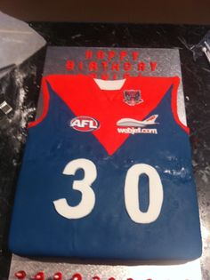 Melbourne football club singlet cake