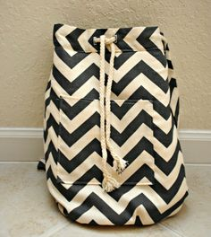 DIY backpack with just 1 yard of fabric...