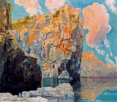 HermenegildoAngladaCamarasa+TheCliffsOffMajorca+1936+PrivateCollection-Spain.jpg (400×350)