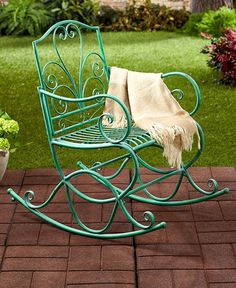 1000 ideas about vintage patio furniture on pinterest - Rocking chair jardin ...