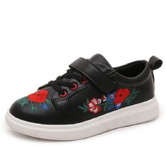 >> Click to Buy << 2016 New Brand Flowers Kids Fashion Sneakers Autumn Embroidered PU Leather Children Boys Sport Shoes Soft Soles Size 27~37 #Affiliate
