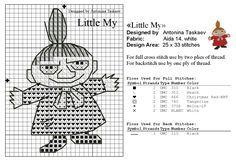 Bilderesultat for little my knitting pattern moomin