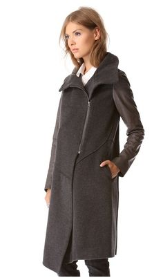 Tess Giberson Leather Sleeve Trench Coat, $995 | 21 Leather-Sleeve Coats For Every Budget