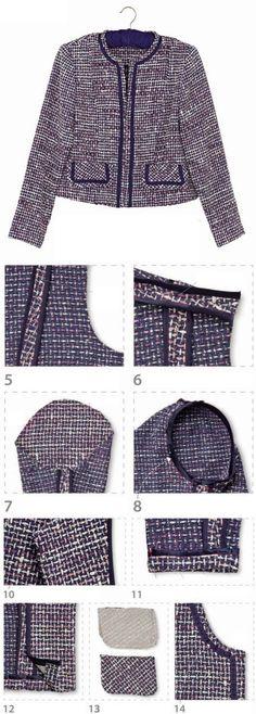 Выкройка жакета Шанель | WomaNew.ru - уроки кройки и шитья.