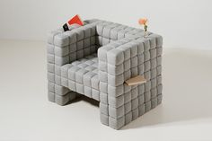Creative Furniture Design - Lost in Sofa is a amazing design created by the designer Daisuke Motagi. This Sofa composed of several soft, square, cube, rectangular shaped items. You and insert anything anywhere in the sofa. Sofa Design, Furniture Design, Interior Design, Design Room, Unique Furniture, Design Design, Creative Design, Design Trends, Modern Design