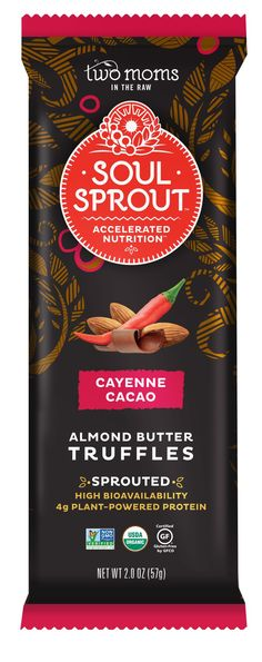 SOUL SPROUT CAYENNE CACAO ALMOND BUTTER TRUFFLES