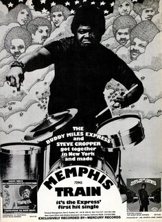 Buddy Miles Exprsee Albums ad by Mercury Records Steve Cropper, Buddy Miles, Mercury Records, Tour Posters, Rock Concert, Drum Kits, Vintage Records, Drummers, Concert Posters