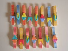 Kit prendedor de festa junina (pacote) | Arte By Cris | 30D078 - Elo7 Clothespin Art, Farm Party, Decoration, Party Time, Crafts For Kids, Diy Crafts, Scrap, Baby Shower, Birthday