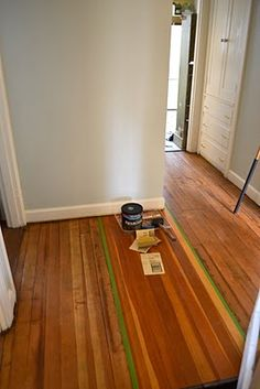 How to refinish hardwood floors. project #2.