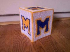 Check out this item in my Etsy shop https://www.etsy.com/listing/515500887/michigan-university-tissue-box-cover
