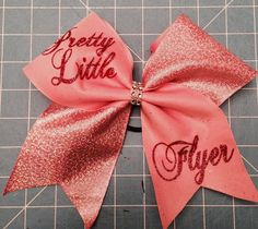 Hey, I found this really awesome Etsy listing at https://www.etsy.com/listing/208874635/pink-tic-toc-pretty-little-flyer-cheer