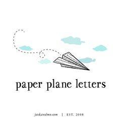 Paper Planes Letters logo design