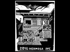 My house 5 yrs ago...2016 Hermosa Ave...I miss this little cottage. :-(