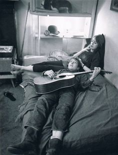 bob dylan and suze rotolo at their greenwich village apartment, january 1962…
