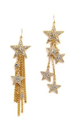 Ben-Amun star asymmetrical earrings