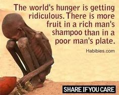 There are about 870 million people in the world who suffer from hunger due to food scarcity based on Food and Agriculture Organization (FAO) data. Description from pinterest.com. I searched for this on bing.com/images