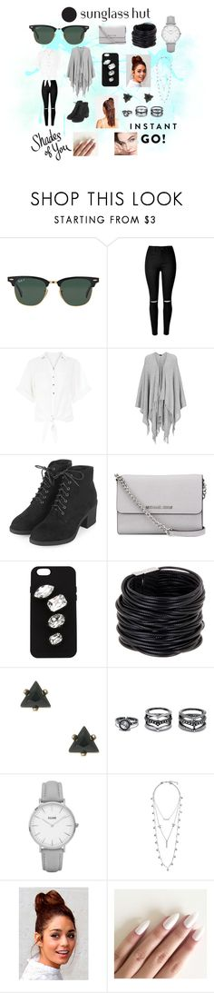 """""""Instant Go"""" by jumainakmir ❤ liked on Polyvore featuring Ray-Ban, New Look, Joseph, Topshop, MICHAEL Michael Kors, STELLA McCARTNEY, Saachi, LULUS, Lucky Brand and Missguided"""