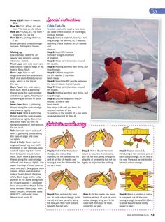 """Photo from album """"Knit Now on Yandex. Doll Toys, Baby Dolls, Cable Cast On, Cross Quilt, Simply Knitting, Easy Knitting Projects, Knitted Animals, Knitting Magazine, Knitted Dolls"""