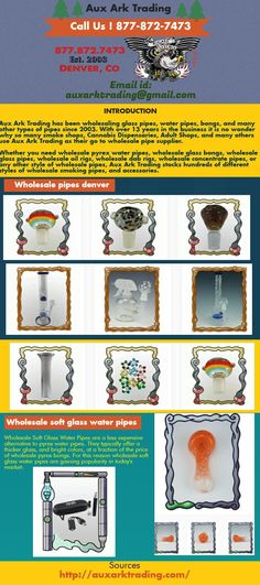 Searching for a dependable, quick, awesome quality item discount provider. It's constantly elusive glass pipes wholesale supplier with low costs in a USA, yet at the same time snappy transportation, awesome client support and overwhelming obligation glass. Auxarktrading is a USA based glass pipes broker with huge assortment of wholesale pipes denver and accessories.