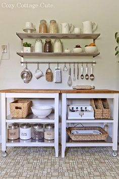 Kitchen decor + must-haves kitchen, ugly kitchen, ikea kitchen cart. Ikea Kitchen Cart, Ugly Kitchen, New Kitchen, Kitchen Dining, Kitchen Decor, Kitchen Small, Kitchen Pantry, Ikea Cart, Organized Kitchen