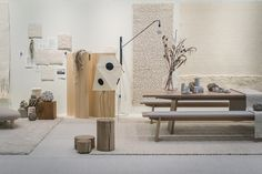 """Tisca Rugs """"Wabi Sabi Style"""" by Lotta Agaton Interiors at Domotex, Hannover, Germany"""