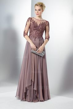 781bdf14fe1 A-Line Princess Jewel Floor-length Chiffon Mother of the Bride Dress  Occasion