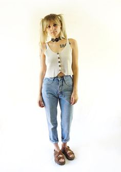 Early 90s Nuovo High-Waisted Grunge Jeans Vintage by ACTUALTEEN