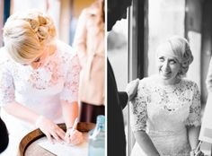 {Real Weddings} Winter Wonderland – Ace and Callie – She is absolutely gorgeous in a custom made Rose and Delilah wedding dress! #loveandlacebridalsalon #roseanddelilah #weddingdress