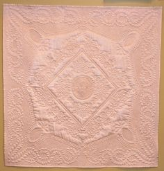 "Wholecloth quilt, dupioni silk: ""Shabby Chic"" by Kathleen V. Machine Quilting Designs, Quilting Patterns, Quilting Ideas, Longarm Quilting, Free Motion Quilting, Whole Cloth Quilts, Pink Quilts, Quilt Designs, Design Patterns"