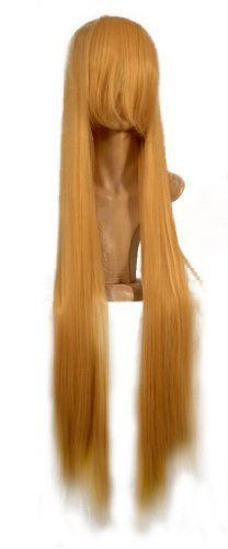 NEW fashion HOT sexy supper Long Blonde Straight Anime cosplay wigs party Masquerade girls 100CM by Sweet & Happy Girl's Anime Wigs. $31.50. Full Wigs, Change Your Looks In Seconds.Great Idea for Party Cosplay Masquerade etc.. NEW store open, Big Discount, From factory, Arrive in 2-3 weeks. Worth the wait... Fashion Wigs, Janpanese Synthetic Fiber. NOT Human Hair.. RETURNS ACCEPTABLE IN 14 DAYS (ORIGINAL SELLING STATUS,NO WEAR PLEASE). Length: 100CM (+/- 5CM). Click m...