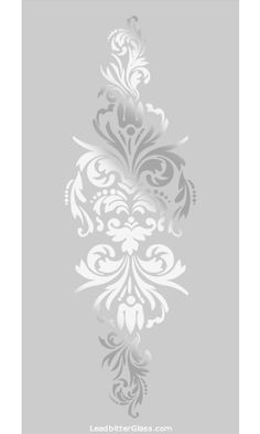 Victorian Sandblasted Glass Designs Page 1