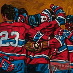 With a Hall of Fame roster, the Montreal Canadiens dominated the second half of the seventies. At the end of the Cup, with the Habs dynasty complete, their studious goaltender Ken Dryden retired with his sixth Stanley Cup in just over seven seasons. Sports Images, Sports Art, Montreal Canadiens, Hockey Teams, Ice Hockey, Ken Dryden, Si Cover, Hockey Hall Of Fame, Sports Painting