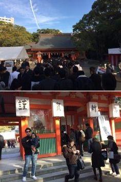 住吉神社にお参りにきました 4日の午後4時過ぎというのにまた大勢の参拝客が並んでる  #福岡市 #博多 #初詣 #御利益 #祈願 tags[福岡県]