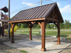 10' X 14' Cedar Alpine Pavilion at Garden Time Nursery and Garden Center in Queensbury