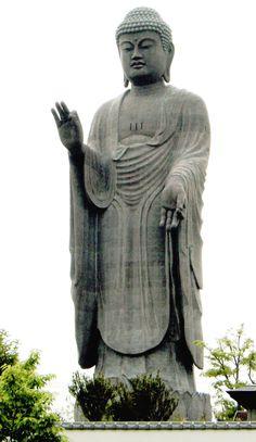 The Ushiku Daibutsu, Amitabha [ Amida ] Buddha, Japan.The third tallest statue in the world, overall 394 feet in height.
