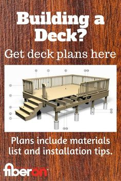 Choose from a variety of deck styles and sizes. Get free plans to help you get started!