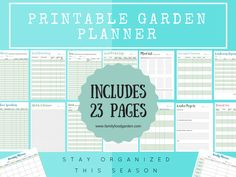 I love staying organized for the gardening season and helping others do the same! Staying organized can really help you to have a successful and bountiful gardening season. When you keep track of your seeds, seedlings or harvests you become a better gardener and can troubleshoot problems better. Y
