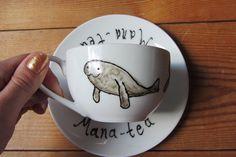 Mana-tea Teacup & Saucer    https://www.etsy.com/shop/gallonsofink