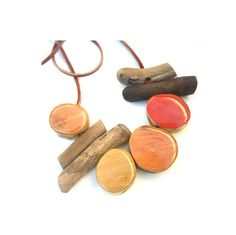 Cayenne Satsuma and Sunflower driftwood necklace by anchoranddaisy, $46.00