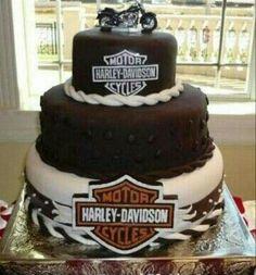 Torta Harley Davidson, Harley Davidson Custom, Harley Davidson Birthday, Cupcakes, Cupcake Cakes, Fondant Cakes, Mini Cakes, Make Birthday Cake, Happy Birthday