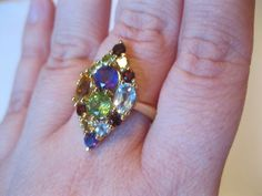 Vtg Gold over Sterling Silver Marquise Multi-Gemstone/Gem Ring 925 PAJ 7 QVC/HSN - Marquise Ring - Ideas of Marquise Ring #marquisering #ring #jewelry -  0  The post Vtg Gold over Sterling Silver Marquise Multi-Gemstone/Gem Ring 925 PAJ 7 QVC/HSN appeared first on Awesome Jewelry. Rings With Meaning, Marquise Diamond, 1 Carat, Qvc, Eternity Ring, Wedding Bands, Engagement Rings, Gemstones, Sterling Silver